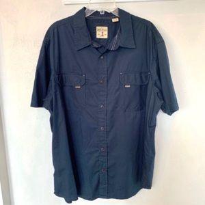 Red Head Cotton Twill Short Sleeve Shirt Size 2XL